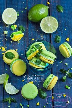 Mojito Macarons #Macarons #Mojito #Desserts