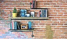 Industrial Pipe Bookshelves - Furnishings by Stella Blue Designs are Environmentally Sustainable