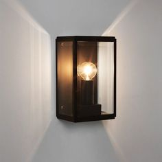 Astro Lighting introduces the sleek, stylish Homefield 130 a modern exterior wall light. Featuring a Black frame fitted with three clear glass panels, a perfect understated design for modern contemporary exteriors. Outdoor Lighting Landscape, Outdoor Wall Lighting, Outdoor Walls, Interior Lighting, Lighting Ideas, Bathroom Lighting, Black Wall Lights, Black Outdoor Wall Lights, Modern Wall Lights