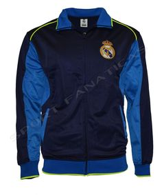 f60187e0cdd Real Madrid Jacket Adult track zip up hoodie blue Neon Navy new season  2015-2016