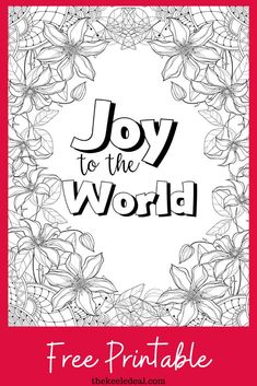 Christmas is right around the corner and what better way to relax then by coloring this Joy to the World Quote Coloring page. #christmas #coloringpage #freeprintable Christmas Post, Christmas Quotes, Diy Christmas Gifts, Family Christmas, Christmas Projects, Christmas Decorations, August Holidays, Wacky Holidays, Quote Coloring Pages