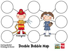 Morning meeting...community helpers double bubble map