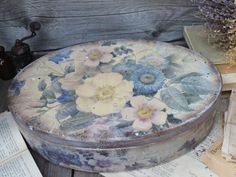 Decoupage Box, Pretty Box, Fun Crafts, Decorative Boxes, Handmade, Vintage, Mixed Media, Home Decor, Art