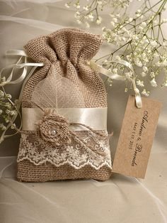 Natural Rustic Burlap Wedding Favor Bag  Natural by DecorisWedding, $3.00