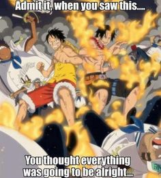 So true. Oh the feels... Luffy and Ace crying my eyes out D''':