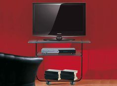 Billy Modern TV Stand by LA Vetreria, Italy - $1,400.00