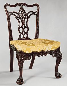 Attributed to Thomas Affleck: Side chair , Rococo, Cadwalader collection. The Metropolitan Museum of Art
