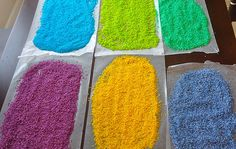 Make your own coloured rice