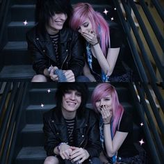 Johnnie Guilbert and Alex Dorame Cute Emo Couples, Scene Couples, Tumblr Couples, Couples In Love, Grunge Style, Neko, Alex Dorame, Chibi, Emo Love