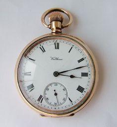 Antique 1907 Waltham Traveler pocket watch #vintagewatch #antiquepocketwatch #antiquewatch