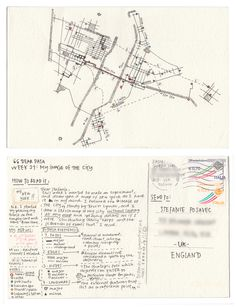 Dear-Data (www.dear-data.com) Week 21- A week in our cities! Postcard by Giorgia