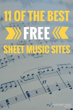 11 of the best free sheet music sites for music teachers Midnight Music Technology Training Violin Sheet Music, Music Guitar, Piano Music, Ukulele, Music Wall, Guitar Chords, Piano Lessons, Music Lessons, Guitar Lessons
