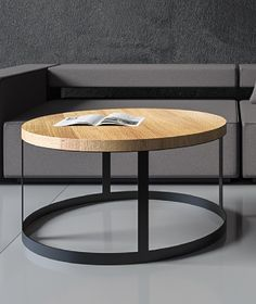 minimalistyczny okrągły stolik kawowy   (id produktu: 496935)