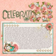 Digital layout using Birthday Glam by Amber Shaw at Sweet Shoppe Designs