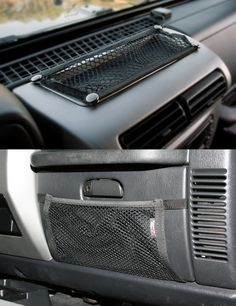 Glove Box And Trail Dash Net Kit; 97-06 Jeep Wrangler TJ
