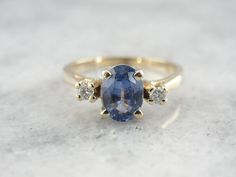 Classic and Sophisticated Sapphire Ring in Perfect by MSJewelers