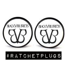 Black Veil Brides white  Plugs by RatchetPlugs on Etsy, $13.00