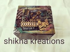"""Shikha kreations posted on Instagram: """"A mixed media accessories box.  a small token of love from brother to his sister to show that no…"""" • See all of @shikha_kreations's photos and videos on their profile. Brother, Mixed Media, Sisters, Profile, Photo And Video, Box, Videos, Photos, Accessories"""