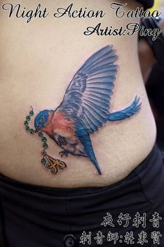 blue bird tattoo