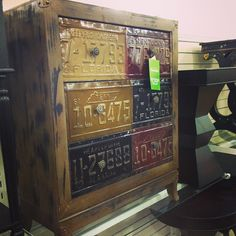 License Plate chest of drawers $129 #homegoodsobsessed #homegoods #uws #nyc…