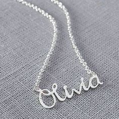 Personalised Handmade Silver Name Necklace - gifts for teenagers