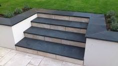 grey paving and coped rendered walls - Google Search