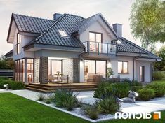 Architecture Discover Dom w śliwach (G) Architecture Courtyard, Concept Architecture, Residential Architecture, Dream House Exterior, Modern House Design, Detached House, Exterior Design, Beautiful Homes, House Plans