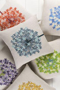 Fresh, modern Agapanthus pillows by designer @emmahome for Surya!
