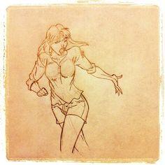 Caitlin Fairchild from Gen13 by @ilzuz, via Flickr #girl #illustration #pencil #fanart #jscottcampbell #gen13