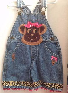 GREGGY GIRL MONKEY DENIM OVERALL  BRAND NAME BOUTIQUE Size 3T Multicolor #GreggyGirl #EverydayCasual