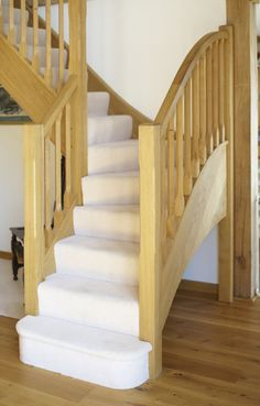 Oak Staircase Leading Up From The Dining Hall. Timber Frame Buildings, Oak  Framed Buildings