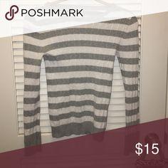 Gray striped sweater Gray striped sweater GAP Sweaters Crew & Scoop Necks