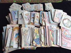 Lot 400 Pcs Vintage Greeting Cards Used Baby Birth Shower Scrapbooks & Crafts