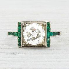 vintage emerald engagement ring