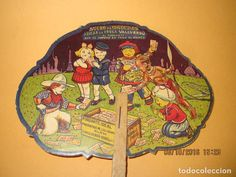 PAY PAY PUBLICIDAD PURGANTE SUCRE DE MADUIXES AZUCAR DE FRESAS VALLVERDÚ DE REUS - AÑO 1930S. (Coleccionismo - Carteles Pequeño Formato) Vintage Advertisements, Fan, Minimal Poster, Dollhouse Kits, Vintage Posters, Strawberry Fruit, Advertising, Hand Fan, Fans