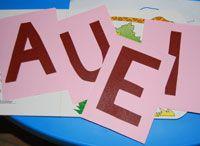 Giochi e lavoretti per bambini: Le lettere tattili