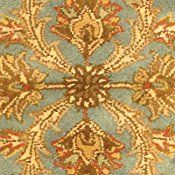 Safavieh Heritage Collection HG811B Handmade Blue and Beige Wool Area Rug, 2 feet 3 inches by 4 feet (2'3″ x 4′)
