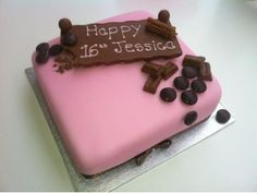 Chocoholics 16th Birthday Cake