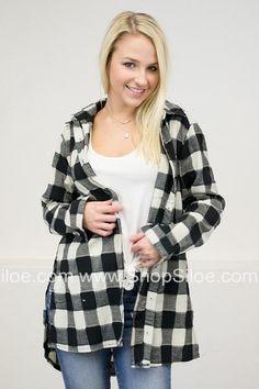 Gingham Plaid Tunic Top   Black #fashion #top #outfit #women #plaid