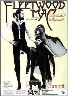 Fleetwood Mac - Rumours 1977 - Poster Plakat Konzertposter