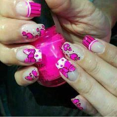 Kawaii Nails, Nail Art Designs, Eye Makeup, Nail Nail, Ideas, Fun, Diana, Work Nails, Polish Nails