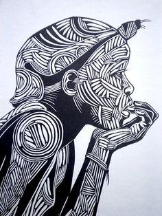 Reflectie zwart-wit afdrukken zwart-witte kunst door BenPrints More