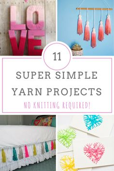 Yarn Projects, Yarn Crafts, Craft Projects, Winter Crafts, Cozy Craft Ideas, Easy Yarn Projects, Things to Do With Yarn, Crafts, Popular Pin, DIY Home