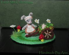small sweet little bunny girl. Her size is only 2,5 cm./ app. 1.  $95.00 #crochet