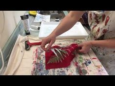 Tutorial on how to make plant prints on fabric - YouTube