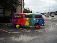 Own a tie dyed VW van