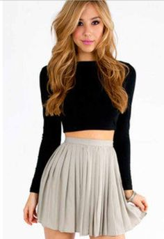 Skirts and crop tops