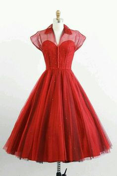 Red sweetheart neckline