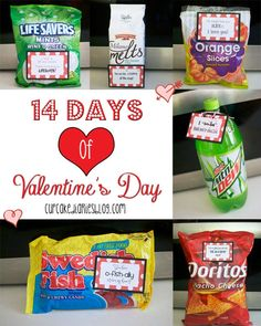 14 Days of Valentine's Day | cupcakediariesblog.com  = You could even hand write your own tags