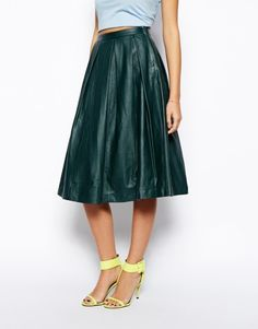ASOS Premium Full Midi Skirt In Leather, how would you style this? http://keep.com/asos-premium-full-midi-skirt-in-leather-by-margeaux_elkrief/k/3TtJt4gBCn/
